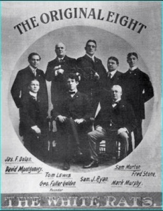 The original White Rats--preparing to take on the Keith-Albee vaudeville chain by posing for a photo.